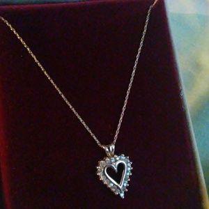 Jewelry - 1/4 ct. tw. Diamond Classic Heart Pendant 10K WG